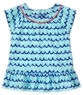 Gymboree Wave Print Peplum Hem T-Shirt in Blue