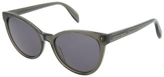 Alexander McQueen Women's Am0111s 55Mm Sunglasses
