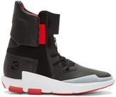 Y-3 Black & Red Noci 0003 High-Top Sneakers