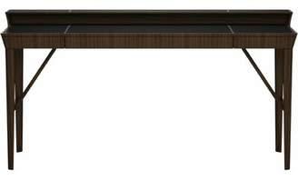 Modloft Black Hampton Writing Desk Black Color: Walnut