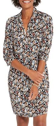 NIC+ZOE, Petites Painted Leopard Dress