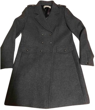 Gerard Darel Grey Wool Coat for Women
