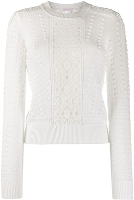 See by Chloe Lace Panel Jumper