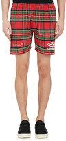 Umbro x Off-White Men's Plaid Cotton-Blend Frayed Soccer Shorts
