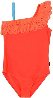 Molo Net one-shoulder swimsuit