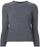 Alexander McQueen zip detailed jumper