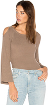 525 America Cut Out Shoulder Sweater in Taupe. - size M (also in )