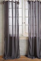 Anthropologie Cotton Tie-Top Curtain