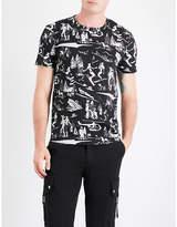 Moncler Ski-print Cotton-jersey T-shirt