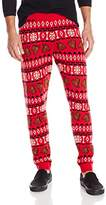 Alex Stevens Men's Horse Head Ugly Christmas Jogger Pant