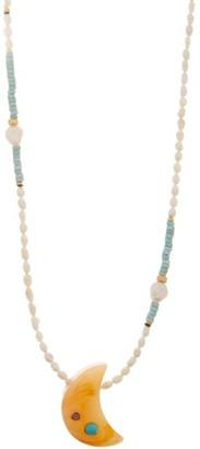 Lizzie Fortunato Mini Moon Pendant Necklace - Womens - Gold