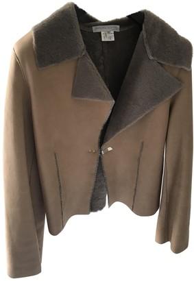 Fabiana Filippi Camel Shearling Leather jackets