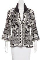 Naeem Khan Silk Embroidered Jacket