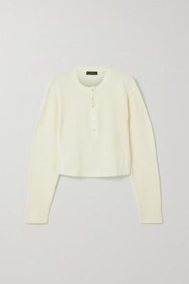 The Range Waffle-knit Cotton-blend Top - White