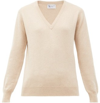 Johnstons of Elgin Johnston's Of Elgin - V-neck Cashmere Sweater - Beige