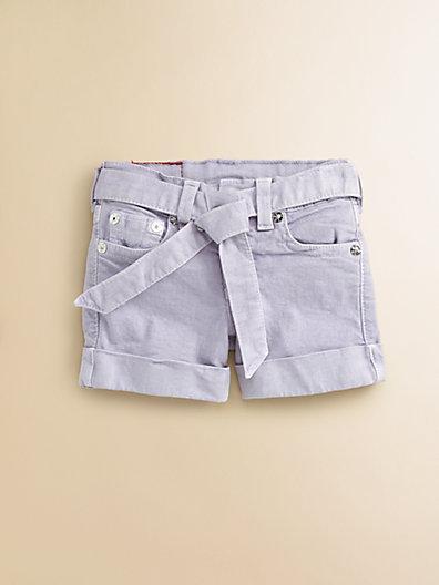 True Religion Girl's Heidi Overdye Tie-Front Shorts