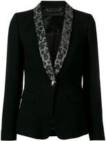 Philipp Plein crystal lapel tuxedo blazer