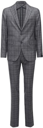 Tagliatore Wool Prince Of Wales Suit