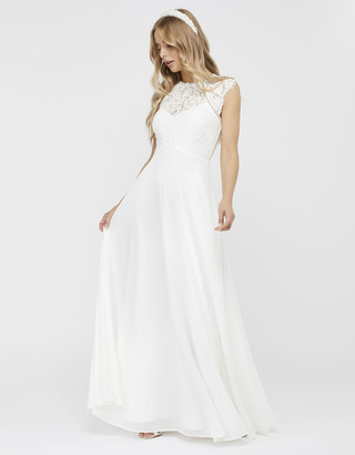 Under Armour Lilian Bridal Lace Maxi Dress Ivory