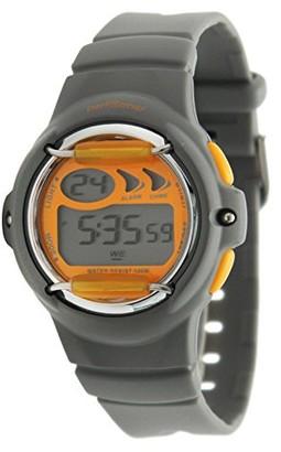 Performer 5 Performer70612432Boys 'WatchDigital QuartzLCD DisplayGrey and Orange Polyurethane BraceletGrey