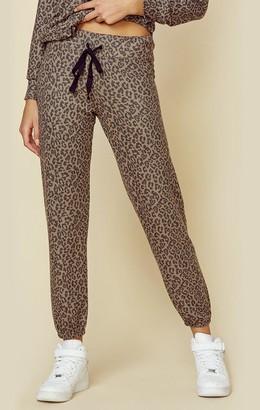 Sundry Leopard Sweatpant