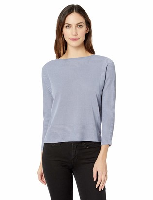 Andrea Jovine AJ by Womens Pullover Sweater Ballet Neck Top