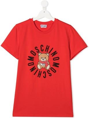 MOSCHINO BAMBINO TEEN teddy logo print T-shirt