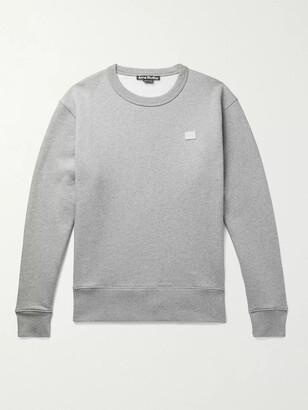 Acne Studios Fairview Logo-Appliqued Fleece-Back Cotton-Jersey Sweatshirt