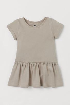 H&M Cotton Jersey Dress - Brown