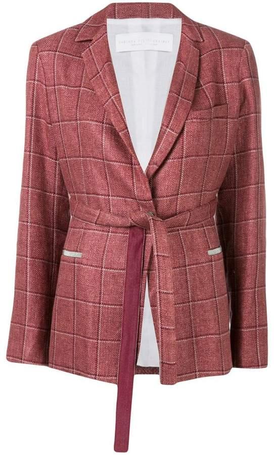 Fabiana Filippi belted check suit jacket