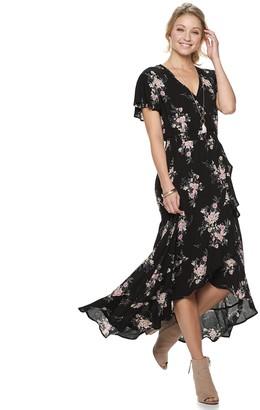 American Rag Juniors' Faux Wrap Maxi Dress
