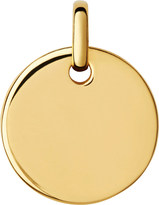 Links of London Narrative yellow-gold vermeil small disc pendant