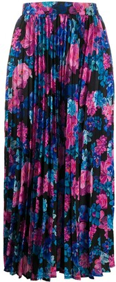 Andamane Becky floral-print pleated skirt