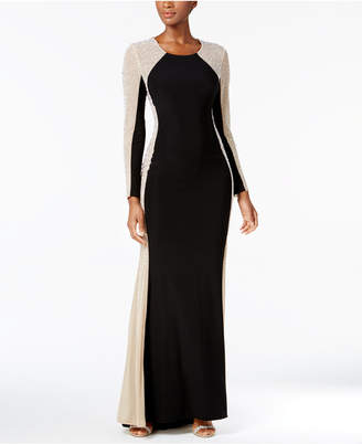 Xscape Evenings Rhinestone Illusion Gown