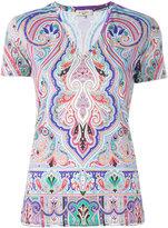 Etro - t-shirt à col v - women -
