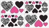JoJo Designs Sweet Funky Zebra Wall Decals in Pink