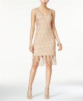 Thalia Sodi Crochet Fringe-Hem Sheath Dress, Only at Macy's