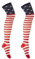 Charlotte Russe Americana Thigh-High Socks
