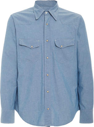 Fortela Western Cotton-Chambray Shirt Size: S
