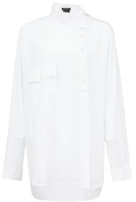 Ann Demeulemeester Asymmetric Cotton-poplin Shirt - Womens - White