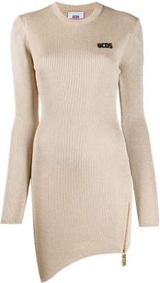 GCDS metallic asymmetric dress