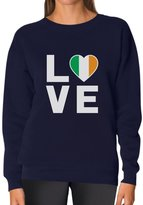 TeeStars I Love Ireland - Flag of Ireland Gift Idea Irish Pride Women Sweatshirt