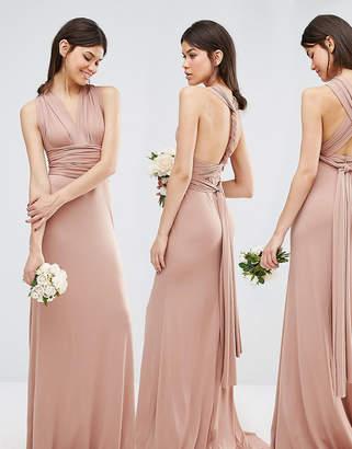 TFNC Tall Tall Wedding Multiway Fishtail Maxi Dress-Tan