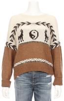 MAISON KITSUNÉ Crop Yin Yang Sweater