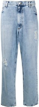 Natasha Zinko Distressed Straight-Leg Jeans