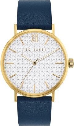 Ted Baker Phylipa Gents Leather Strap Watch, 43mm