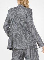 Michael Kors Palm Linen Blazer