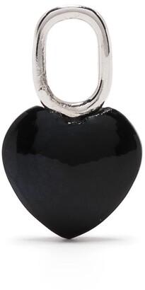 Maria Black Onyx-Detail Heart Charm