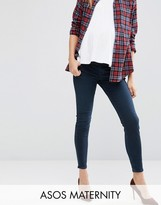 Asos Ridley Skinny Jeans In Vivienne Wash With Under the Bump Waistband
