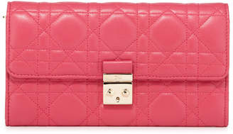 Christian Dior Rendezvous Quilted Leather Continental Wallet